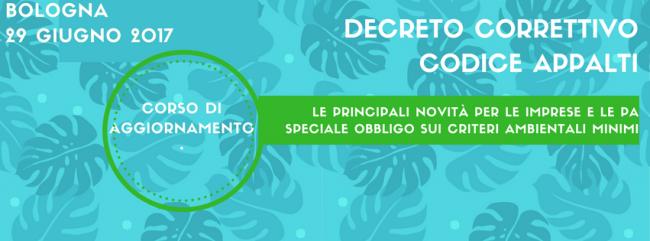 Decreto correttivo Nuovo Codice Appalti: corso di aggiornamento
