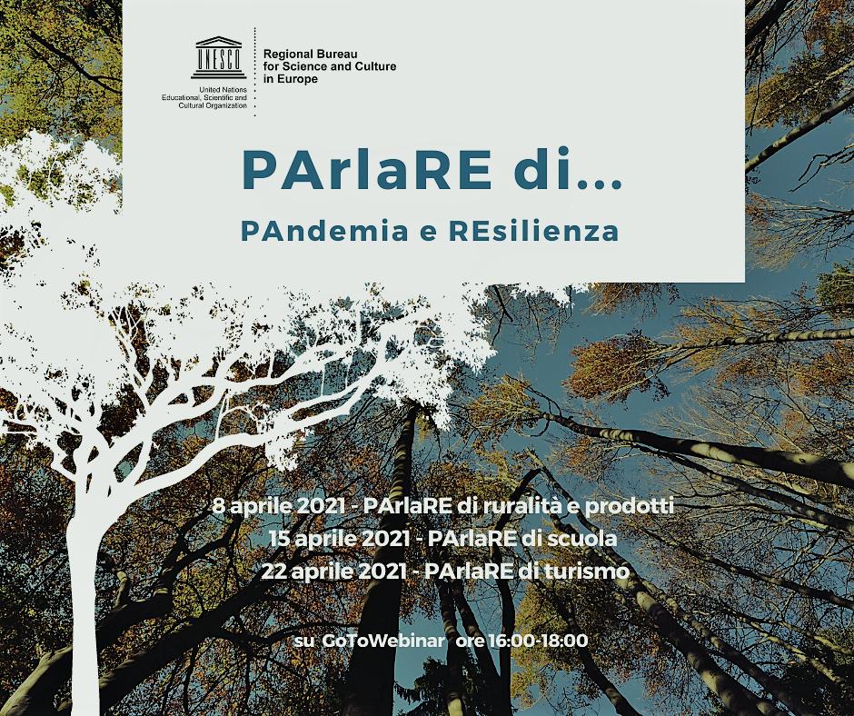 MAB UNESCO ciclo di webinar Parlare di Pandemia e resilienza